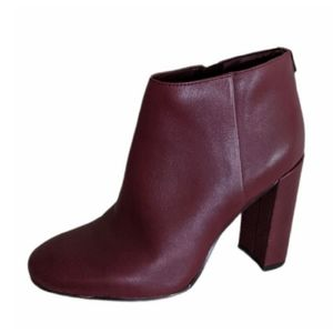 SAM EDELMAN Cambell Mahogany Leather Ankle Boots-6